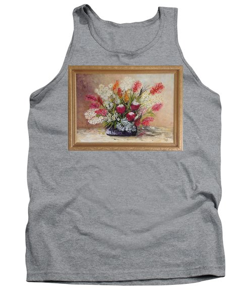 Tank Top featuring the painting Australian Natives by Renate Voigt