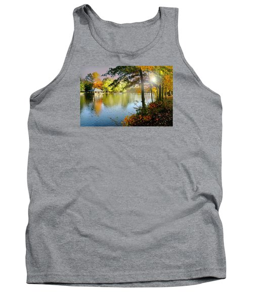 Autumn At Tilley Pond Tank Top by Diana Angstadt