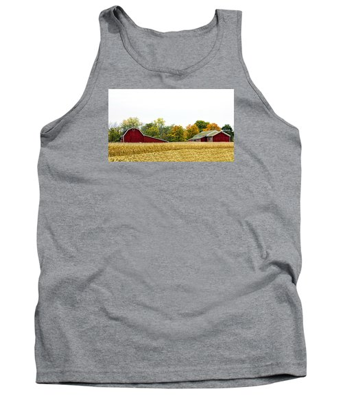 Autumn Barns Tank Top by Pat Cook