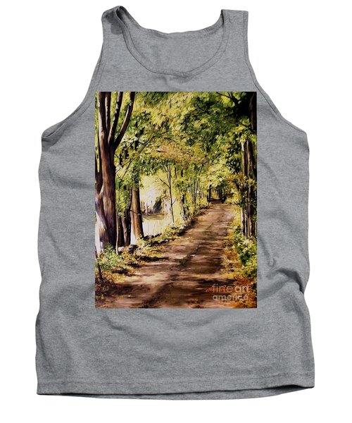 Tank Top featuring the painting Autumn Begins In Underhill by Laurie Rohner