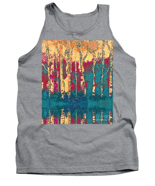 Autumn Birches Tank Top by Holly Martinson