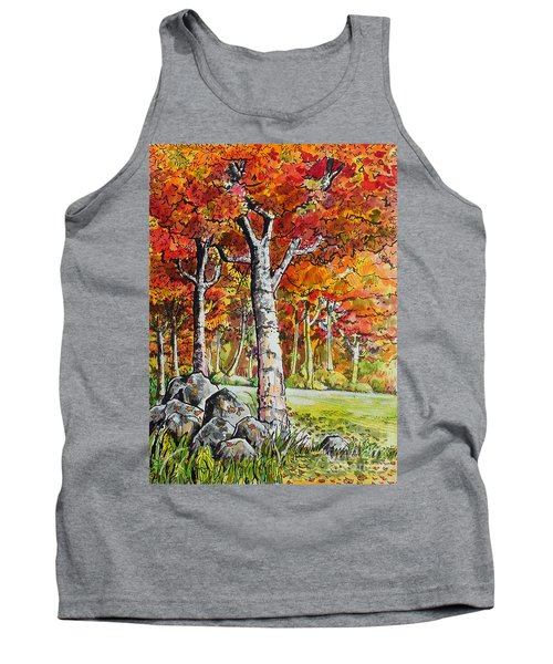 Autumn Bloom Tank Top by Terry Banderas