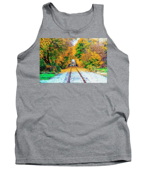 Tank Top featuring the photograph Autumn Days by Jim Lepard