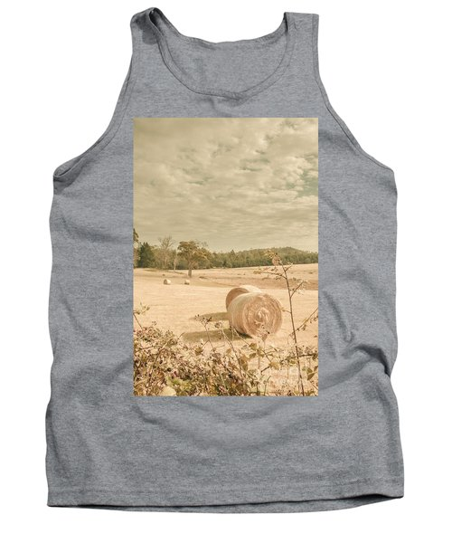Autumn Farming And Agriculture Landscape Tank Top