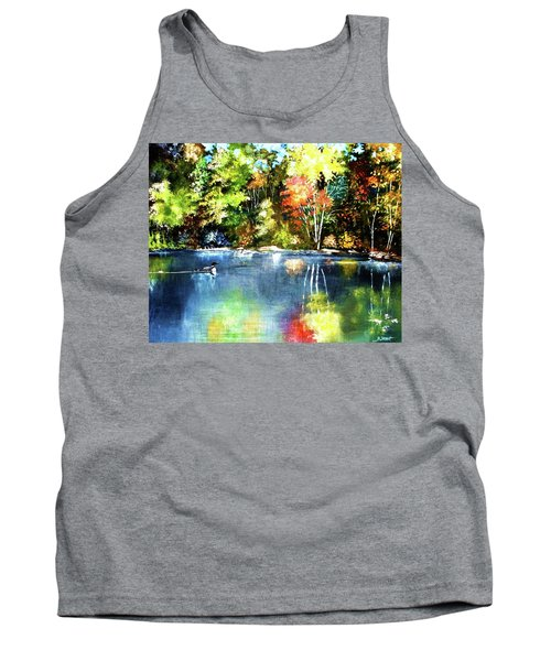Autumn In Loon Country Tank Top
