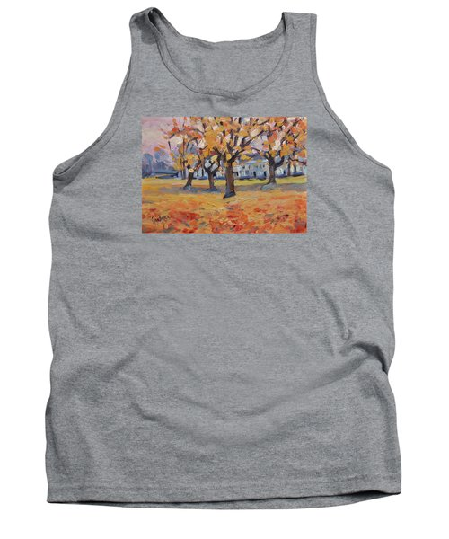 Tank Top featuring the painting Autumn In The Villa Park Maastricht by Nop Briex