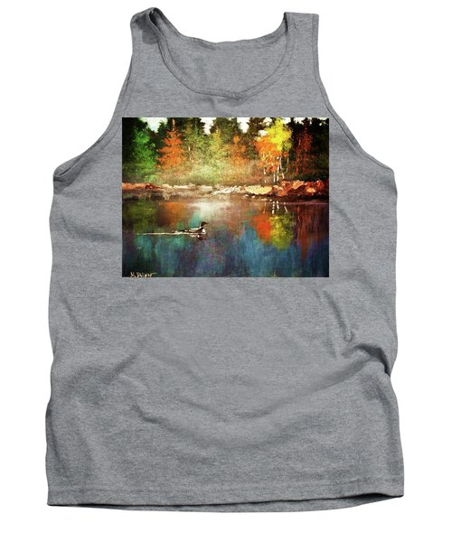 Autumn Lake Reflections Tank Top