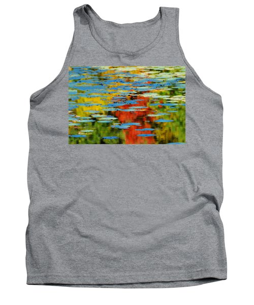 Tank Top featuring the photograph Autumn Lily Pads by Diana Angstadt