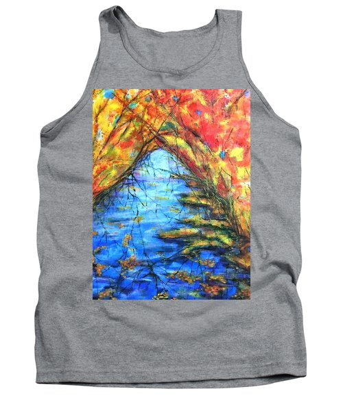 Autumn Reflections 2 Tank Top by Rae Chichilnitsky