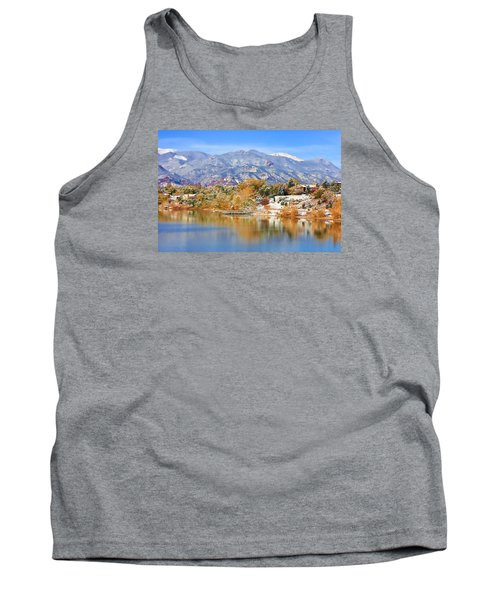 Autumn Snow At The Lake Tank Top
