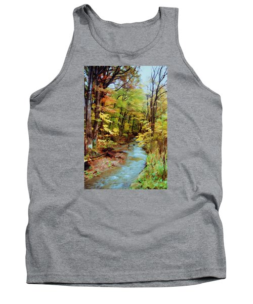 Tank Top featuring the photograph Autumn Stream by Diane Alexander