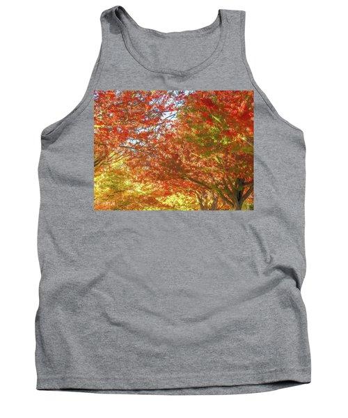 Autumn Trees Digital Watercolor Tank Top