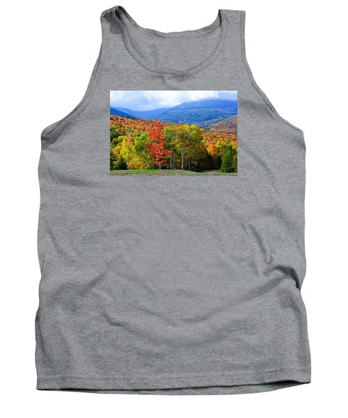 Autumn White Mountains Nh Tank Top by Michael Hubley