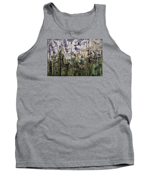 Tank Top featuring the painting Aviary by Ron Richard Baviello