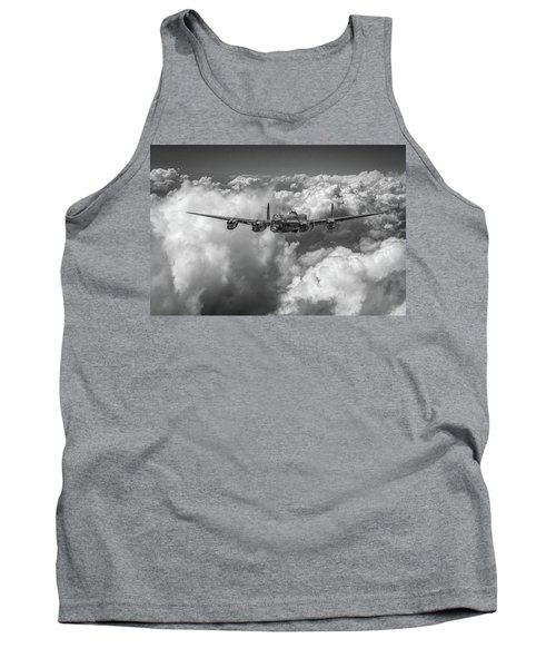 Avro Lancaster Above Clouds Bw Version Tank Top by Gary Eason
