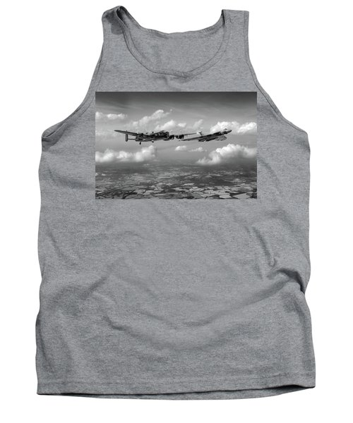 Tank Top featuring the photograph Avro Sisters Bw Version by Gary Eason