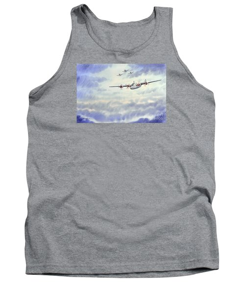 Tank Top featuring the painting B-24 Liberator Aircraft Painting by Bill Holkham
