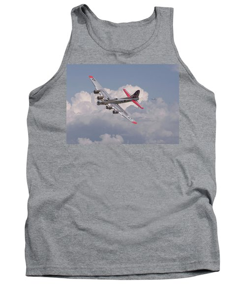 Tank Top featuring the photograph B17 - The Last Lap by Pat Speirs