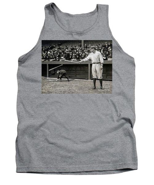 Babe Ruth At Bat Tank Top