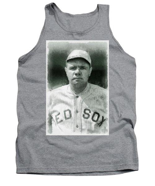 Babe Ruth, Baseball Player Tank Top