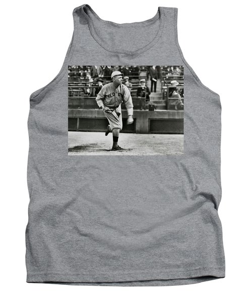 Babe Ruth - Pitcher Boston Red Sox  1915 Tank Top by Daniel Hagerman