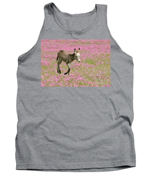 Baby Donkey In The Flowers Tank Top by Myrna Bradshaw