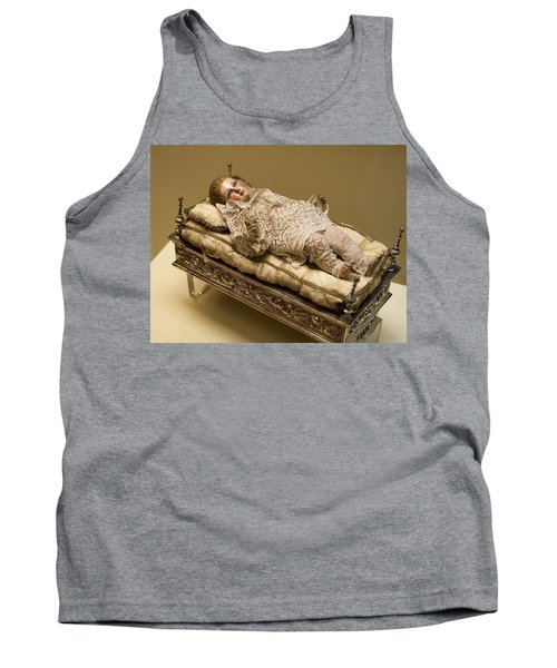 Tank Top featuring the photograph Baby Jesus In Lace by Lorraine Devon Wilke