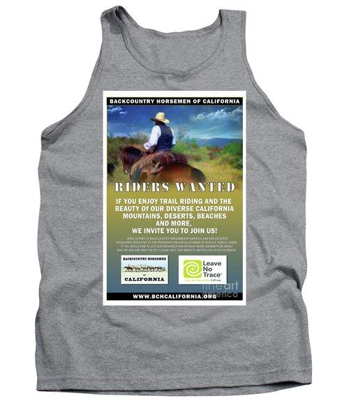 Backcountry Horsemen Join Us Poster Tank Top
