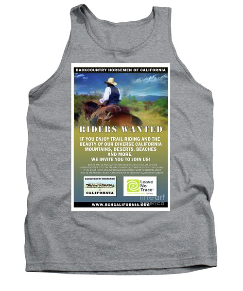 Backcountry Horsemen Join Us Poster Tank Top