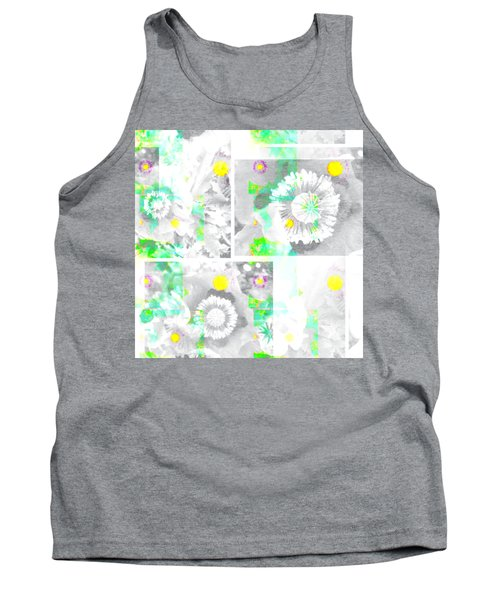 Colour Choice Poppy Collage Tank Top by Barbara Moignard