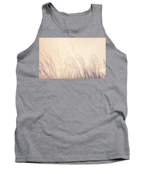 Backlit Prairie Grass Tank Top
