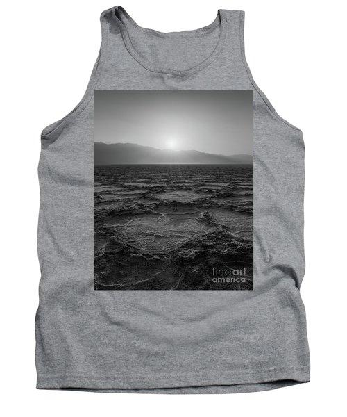 Badwater Basin Salt Flats Sunset Bw Tank Top