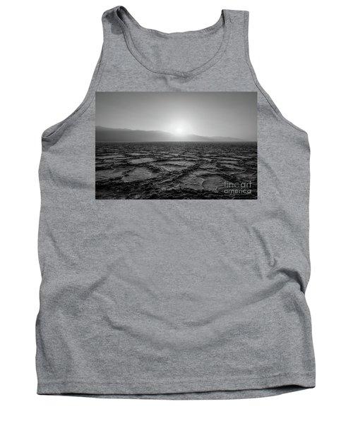 Badwater Basin Sunset Bw Tank Top