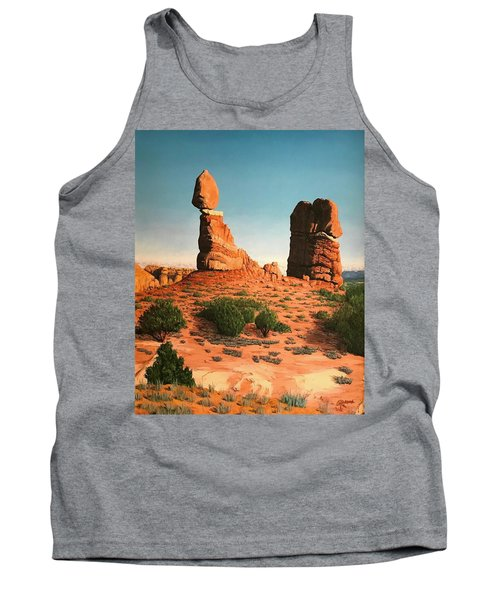 Balanced Rock At Arches National Park Tank Top