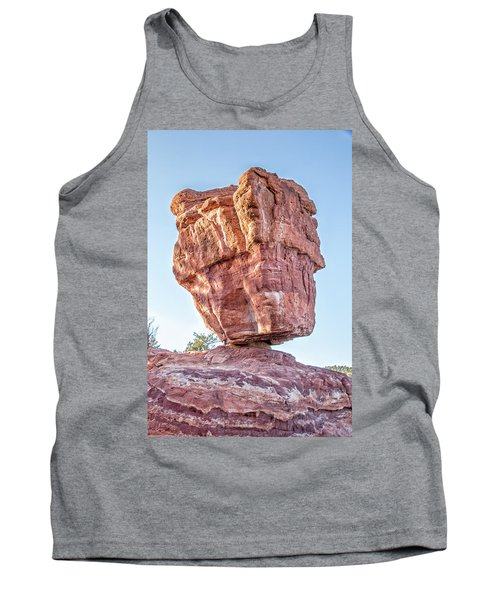 Tank Top featuring the photograph Balanced Rock In Garden Of The Gods, Colorado Springs by Peter Ciro