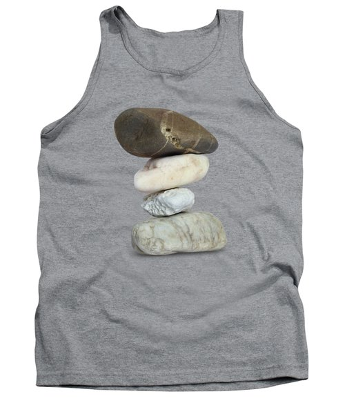 Balancing Stone Tower On White Background Tank Top