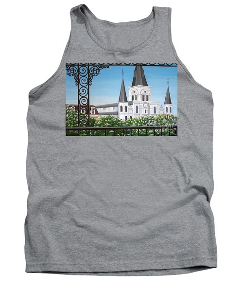 Balcony View Of St Louis Cathedral Tank Top