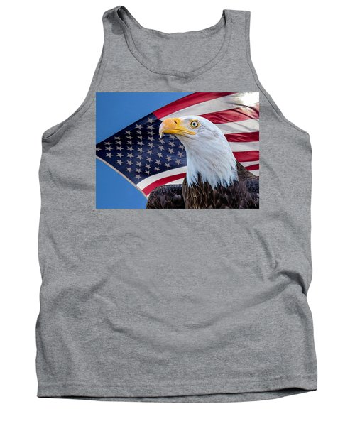 Bald Eagle And American Flag Tank Top