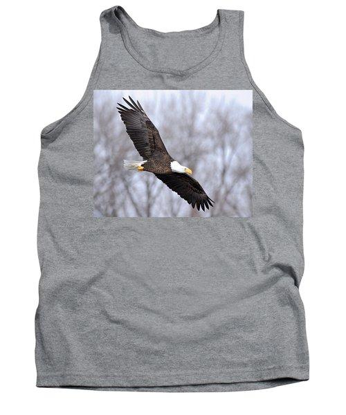 Bald Eagle In Flight Tank Top