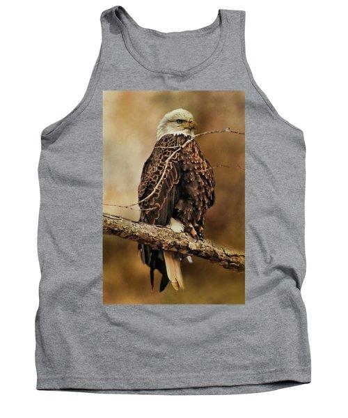 Bald Eagle Perch Tank Top