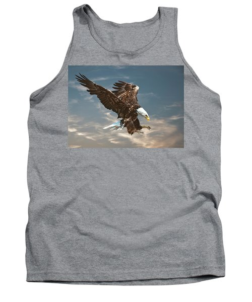 Bald Eagle Swooping Tank Top