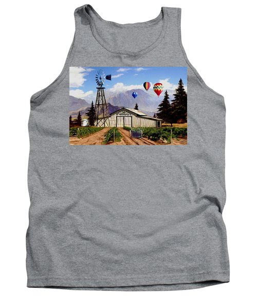 Balloons Over The Winery 1 Tank Top