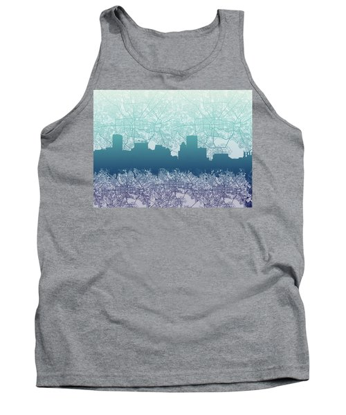 Tank Top featuring the painting Baltimore City Skyline Map 2 by Bekim Art