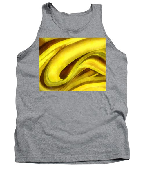 Tank Top featuring the digital art Banana With Chocolate by Francesa Miller