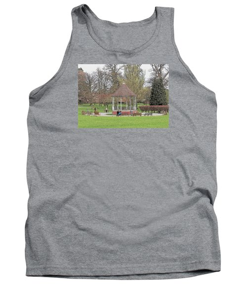 Tank Top featuring the drawing Bandstand Games by Paul Gulliver