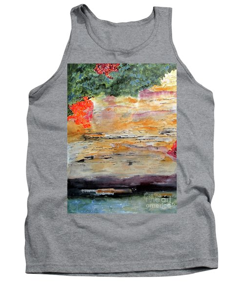 Tank Top featuring the painting Bank Of The Gauley River by Sandy McIntire
