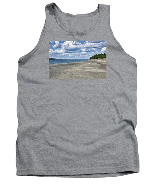 Bar Harbor - Land Bridge To Bar Island - Maine Tank Top by Brendan Reals