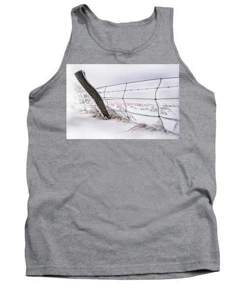 Barbed Wire And Hoar Frost Tank Top by Dan Jurak