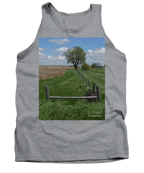 Barbed Wire Fence Line Tank Top by Renie Rutten