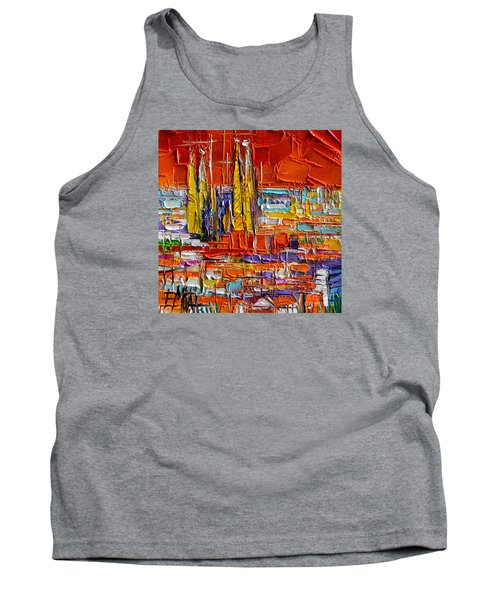 Barcelona View From Parc Guell - Abstract Miniature Tank Top